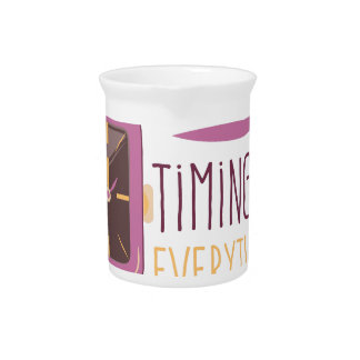 Timing Is Everything Drink Pitcher