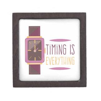 Timing Is Everything Keepsake Box
