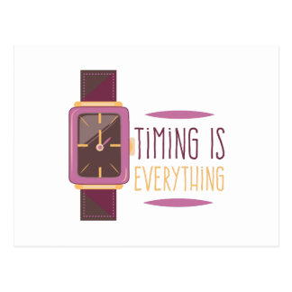 Timing Is Everything Postcard