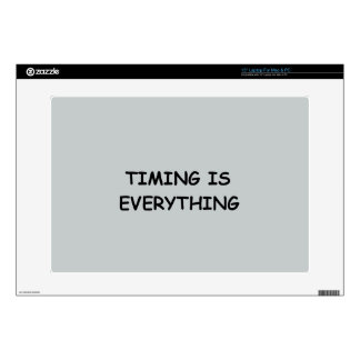 TIMING IS EVERYTHING QUOTES TRUISM FACTS LIFE LOVE DECALS FOR LAPTOPS