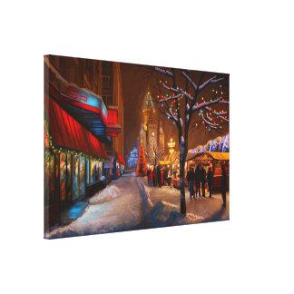 Timisoara Christmas Market Canvas Print