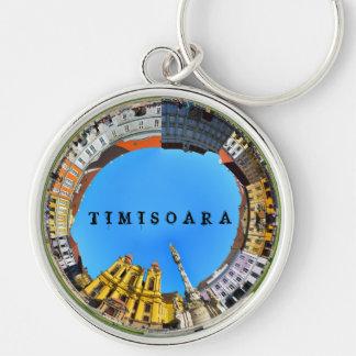 timisoara city romania union square panorama piata keychain