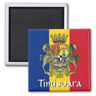 Timișoara Coat of Arms 2 Inch Square Magnet