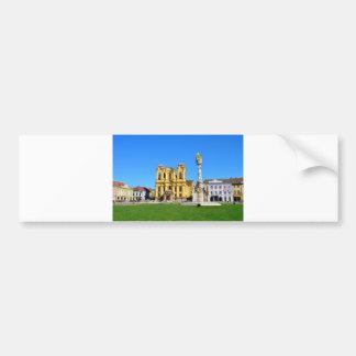 timisoara romania church dome landmark unirii squa bumper sticker
