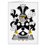 Timmins Family Crest Greeting Cards
