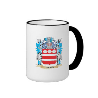 Timmis Coat of Arms - Family Crest Ringer Coffee Mug