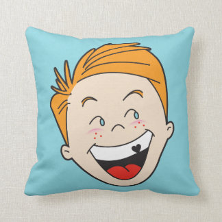 Timmy and Tammy Retro '50s Kids Pillow — SQUARE