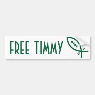 Timmy libre - fútbol de NY Pegatina Para Auto