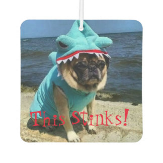 "Timmy The Pug Air Freshener ""This Stinks"""