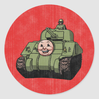 Timmy the Tank Round Stickers