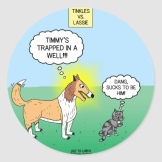 Timmys Cat Tinkles Classic Round Sticker