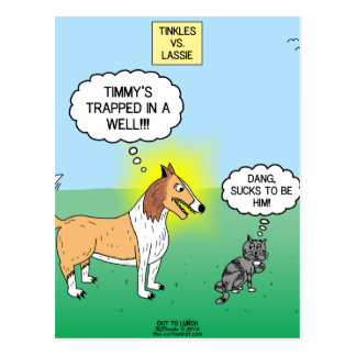 Timmys Cat Tinkles Postcard