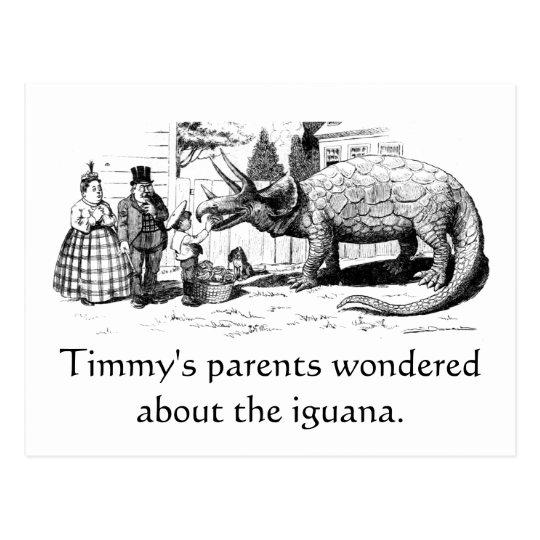 Timmy's Iguana Postcard