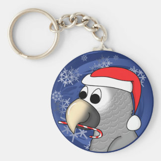 Timneh African Grey Christmas Keychain