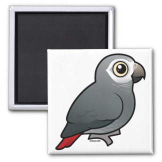 Timneh African Grey Parrot 2 Inch Square Magnet