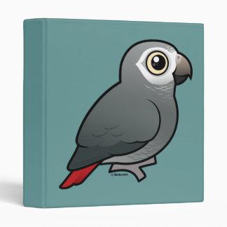 Timneh African Grey Parrot 3 Ring Binder
