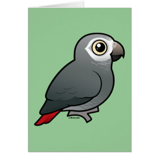 Timneh African Grey Parrot Greeting Card