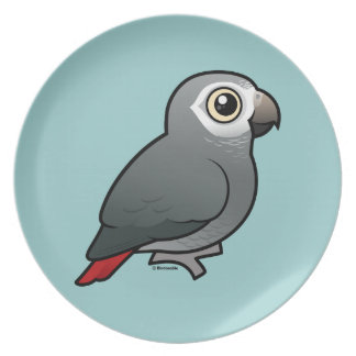 Timneh African Grey Parrot Dinner Plate