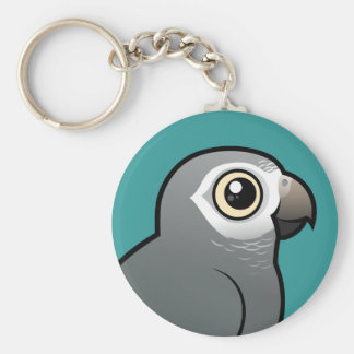 Timneh African Grey Parrot Keychain