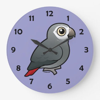 Timneh African Grey Parrot Large Clock