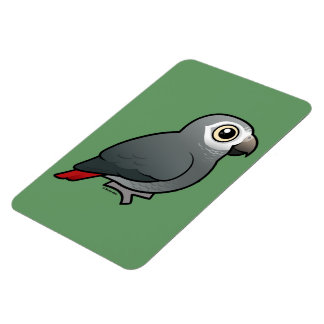 Timneh African Grey Parrot Magnet