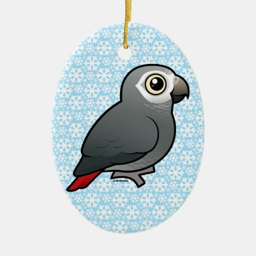 Timneh African Grey Parrot Christmas Tree Ornaments