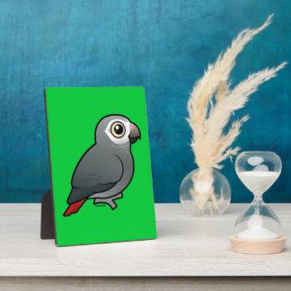 Timneh African Grey Parrot Plaque