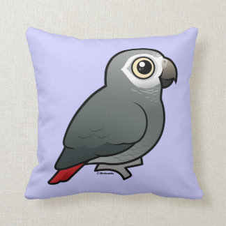 Timneh African Grey Parrot Throw Pillow