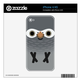 Timneh Grey Parrot (Adult) Decal For iPhone 4S