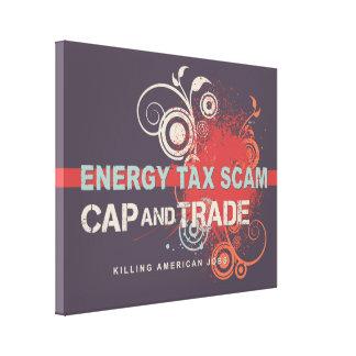 Timo del impuesto sobre energía lona estirada galerías