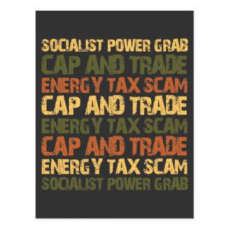Timo del impuesto sobre energía tarjetas postales