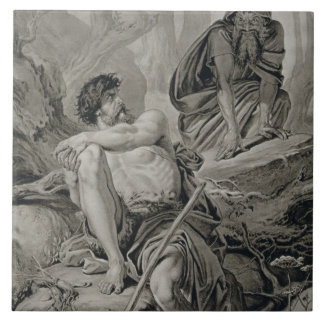Timon and Apemantus, from Timon of Athens by Willi Large Square Tile