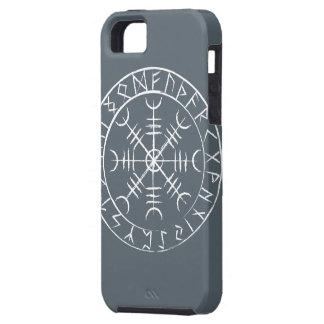 Timón de los nórdises del temor con las runas funda para iPhone SE/5/5s
