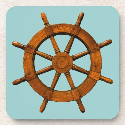 Timón de madera de las naves posavasos