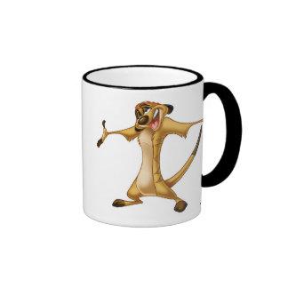 Timon Disney del león de rey Taza De Dos Colores