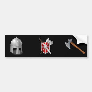 Timón medieval pegatina para auto
