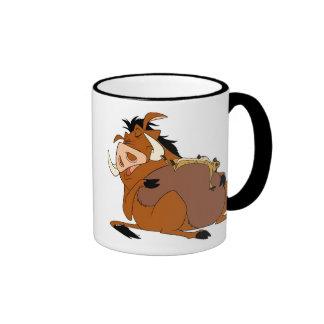 Timon Pumba Disney del león de rey Taza