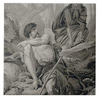 Timon y Apemantus, de Timon de Atenas de Willi Azulejo Cuadrado Grande