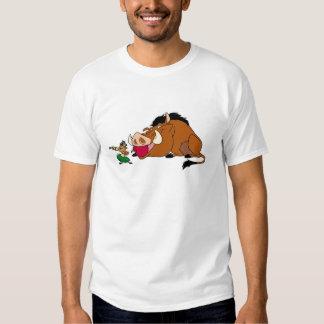 Timon y Pumbaa Disney del león de rey Polera