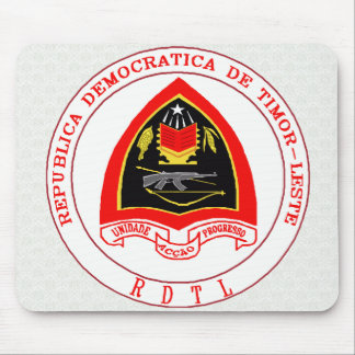 Timor-Leste Coat of Arms detail Mousepad