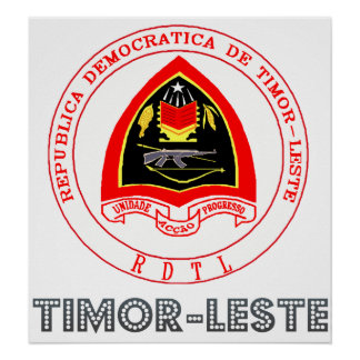 Timor-Leste Coat of Arms Poster
