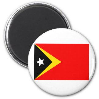 Timor Leste Flag 2 Inch Round Magnet