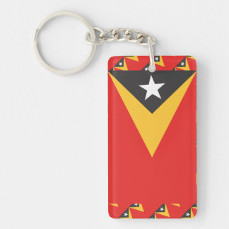 Timor-leste Flag Single-Sided Rectangular Acrylic Keychain