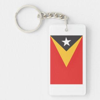 Timor-leste Flag Double-Sided Rectangular Acrylic Keychain