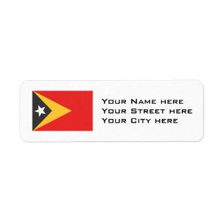 Timor-leste Flag Return Address Label