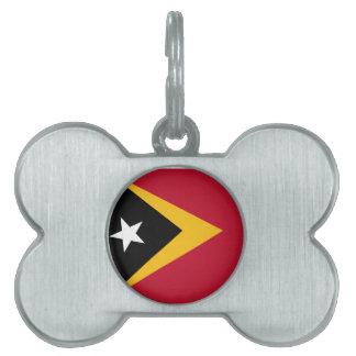 Timor leste flag pet ID tag
