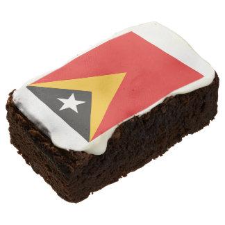 Timor-leste Flag Rectangular Brownie