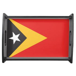 Timor-leste Flag Serving Platters