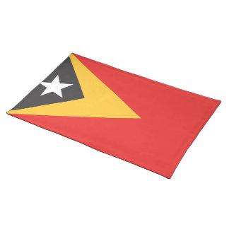 Timor-leste Flag Cloth Placemat