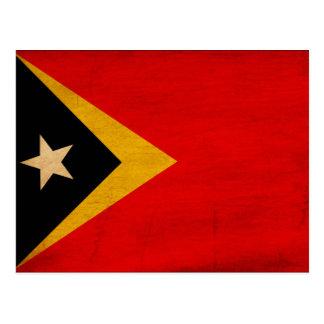 Timor Leste Flag Postcard